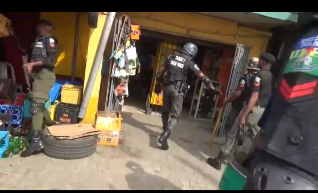 Nigerian police destroying tax payer's property