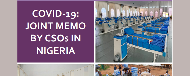Joint Memo By CSOs On Response To COVID-19 Pandemic In Nigeria: Press Statement